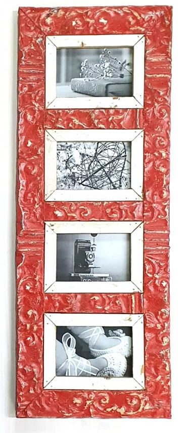 Jabu Frames 4 x 1 Red Frame